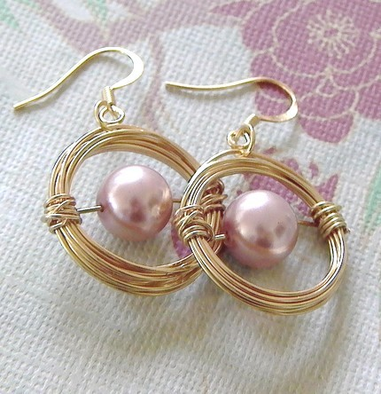 Classic earrings from Gift Designs on Etsy