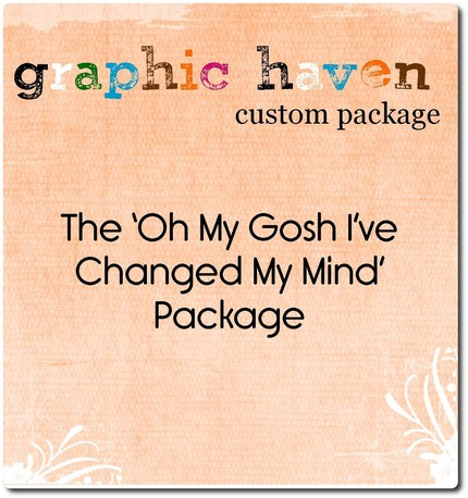 Just one of the packages available by Graphic Haven