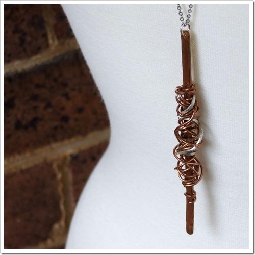 Copper & Sterling Silver Tangle Pendant_01