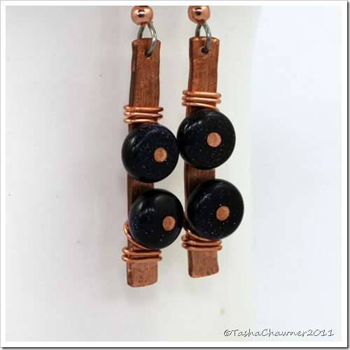 Copper & Blue Goldstone Gemstone Earrings_09