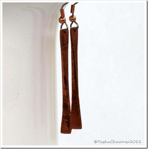 Hammered Copper Fan Earrings_22