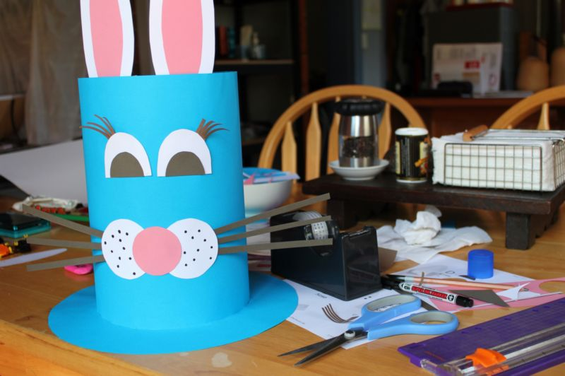 easter bunny hat template - easter hat parade tasha chawner