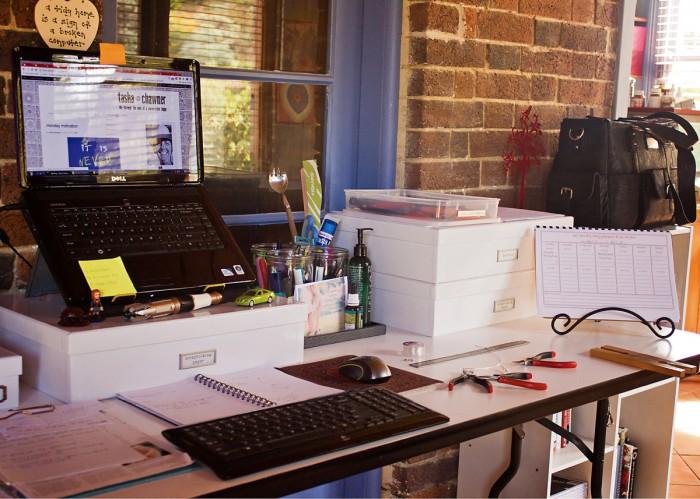 My humble work area