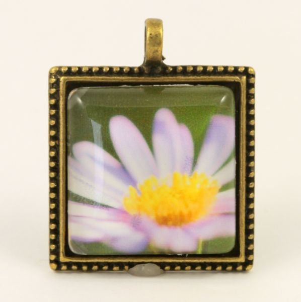 Fine Art Photo Pendant - Purple Daisy