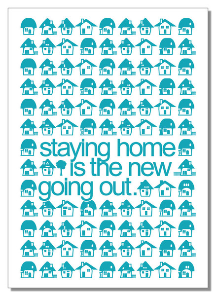 Staying Home is the New Going Out tea towel at Pretty Berlin