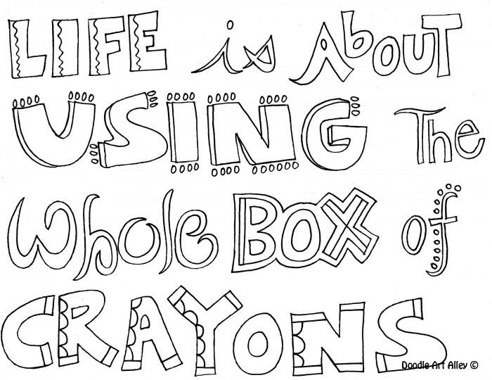 Use the whole box of crayons