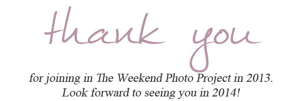 The Weekend Photo Project end of year thank you copy