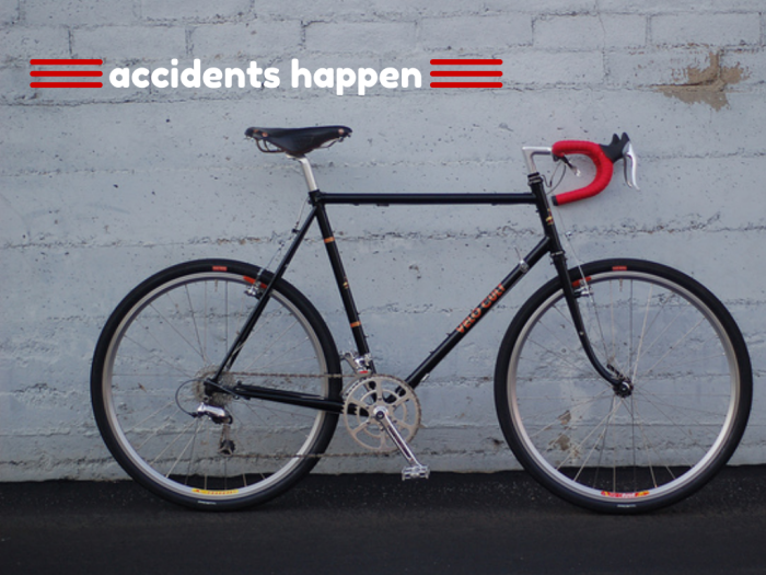 accidents happen on bicycles poster