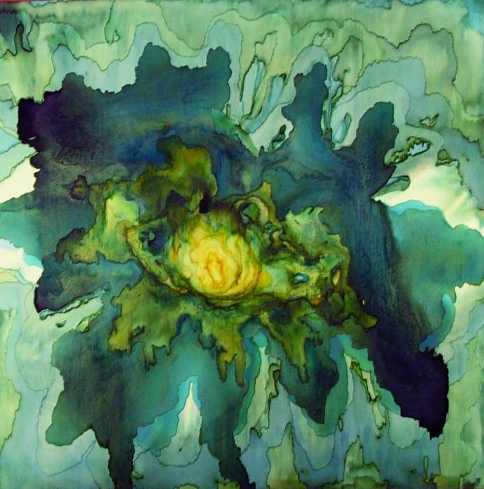 green nectar artwork by Tobias Tovera