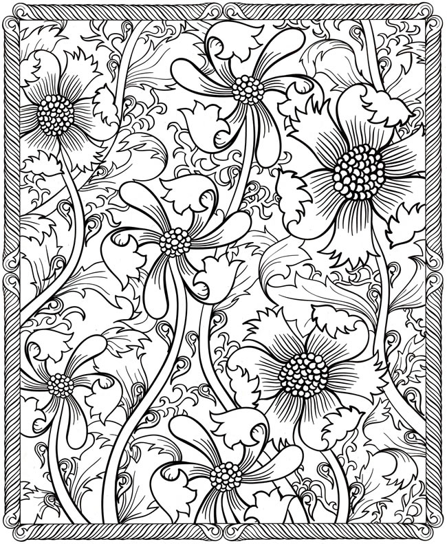 Detailed flower colour in page