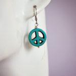 turquoise-coloured-peace-symbol-earrings