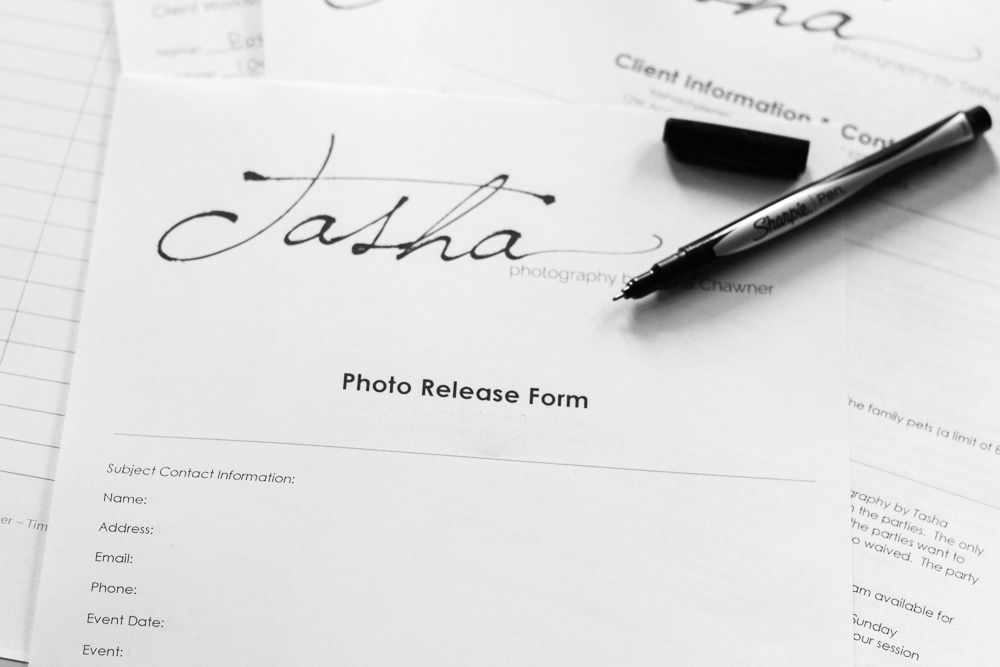 why i will ask you to sign a model release form when you have a photography session with me