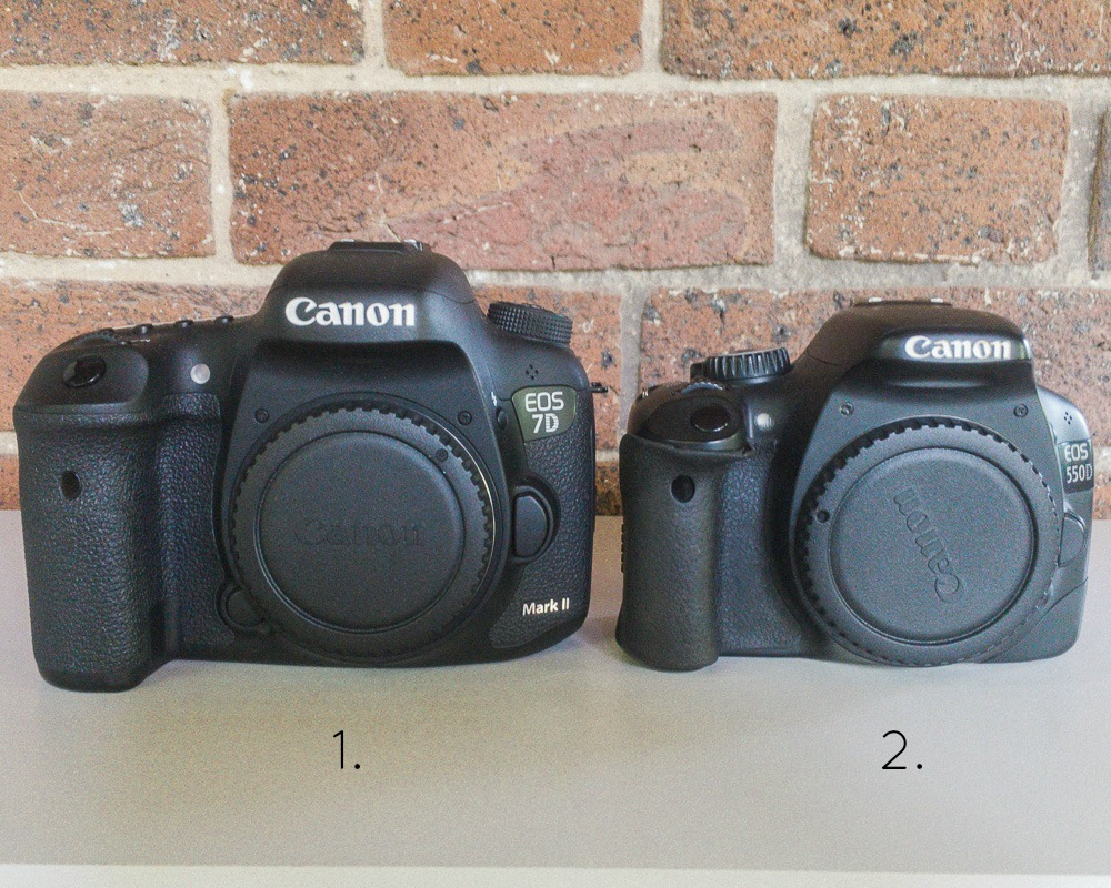 canon eos 7dii and 550d