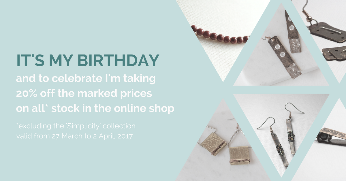 celebrating my birthday with a 20% off sale