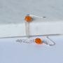 silver-and-orange-earrings